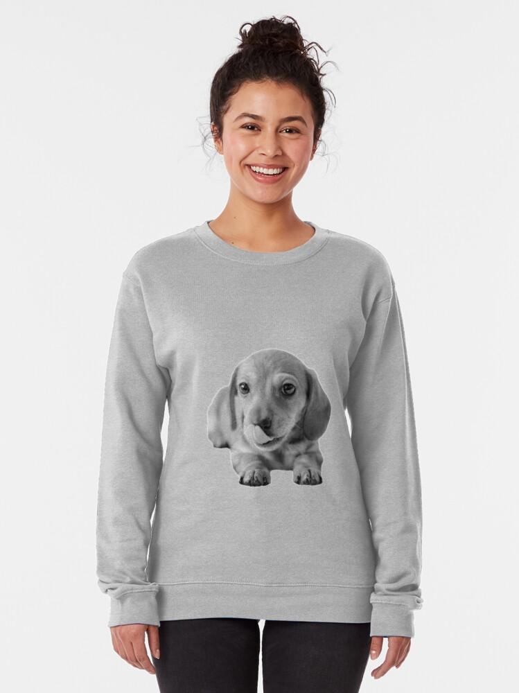 Alternate view of Little Cute Dachshund Puppy Pullover Sweatshirt
