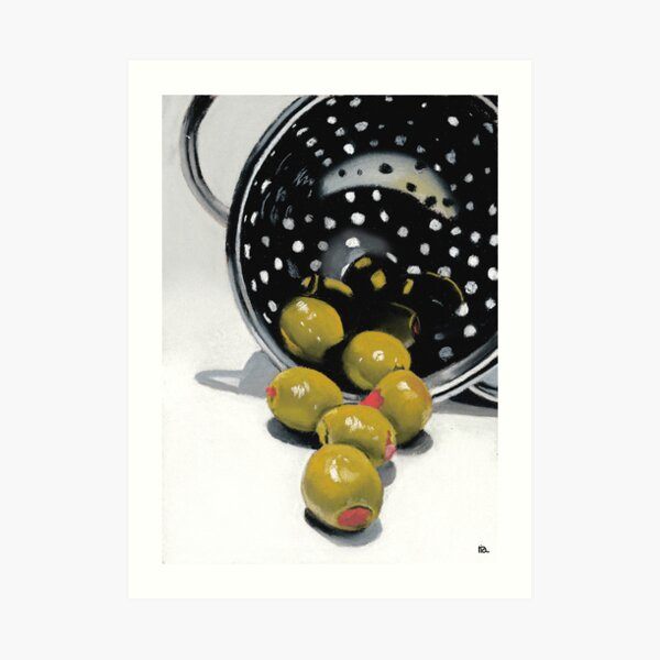 Olives in a Colander Art Print