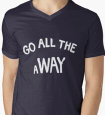 GO ALL THE aWAY Men's V-Neck T-Shirt