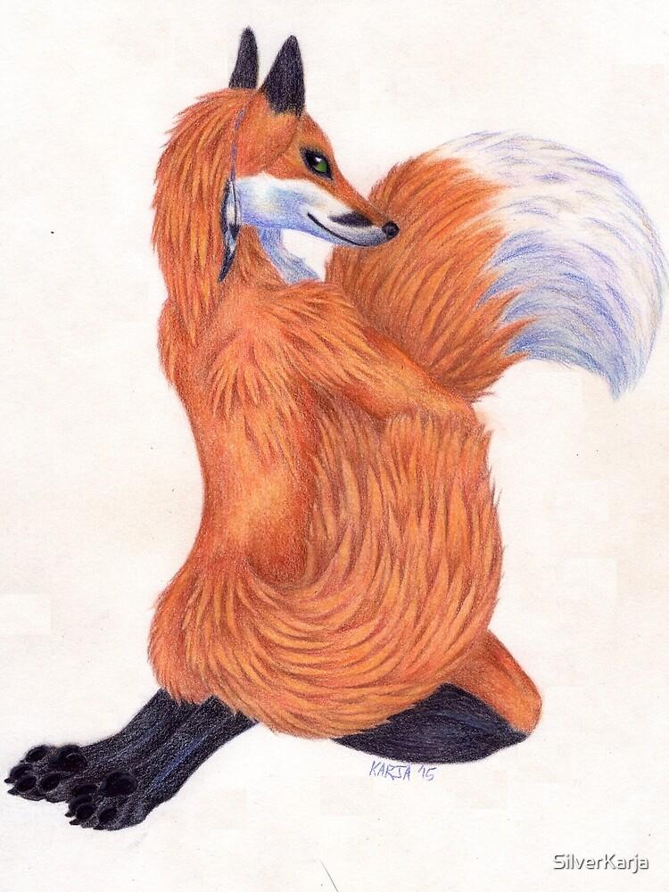 Anthro Fox by SilverKarja