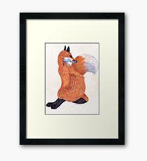 Anthro Fox Framed Print