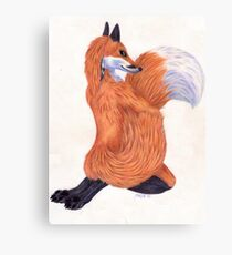 Anthro Fox Canvas Print