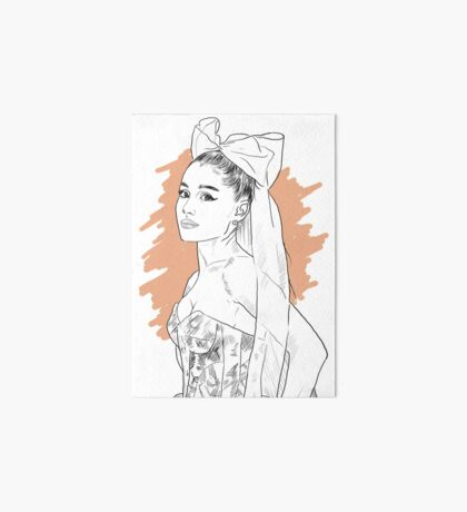 Bow tie singer drawing Art Board Print