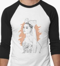 Bow tie singer drawing Baseball ¾ Sleeve T-Shirt
