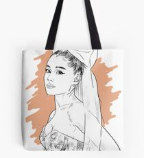 Bow tie singer drawing Tote Bag