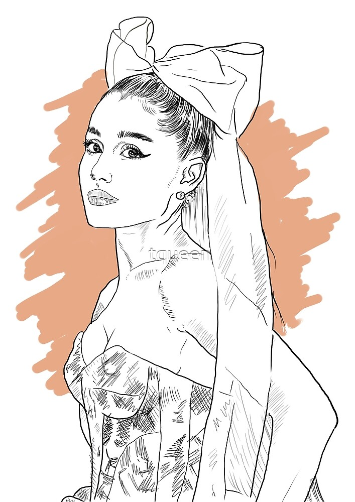Bow tie singer drawing by tqueen