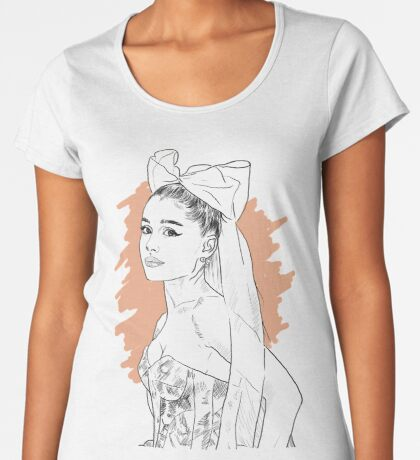 Bow tie singer drawing Premium Scoop T-Shirt