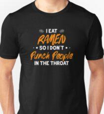 Camiseta ajustada Como Ramen, así que no golpeo a la gente en la garganta.