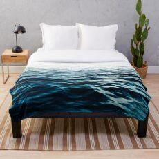 Blaues Meer Fleecedecke