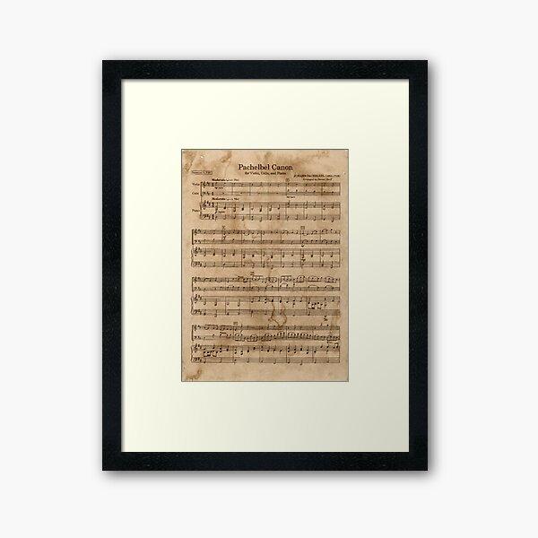 Pachelbel's Canon Framed Art Print
