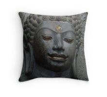 Greenstone Buddha Throw Pillow