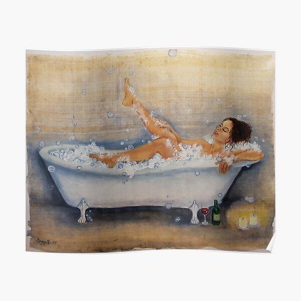 Magic of a hot bath Poster