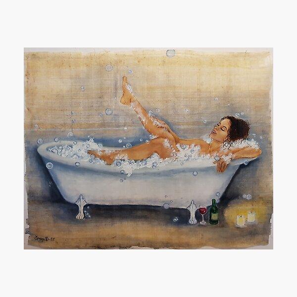 Magic of a hot bath Photographic Print