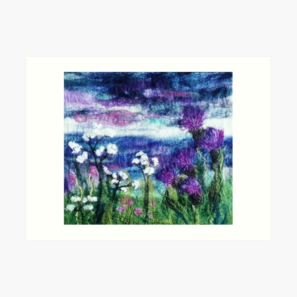 Thistle Meadow Art Print