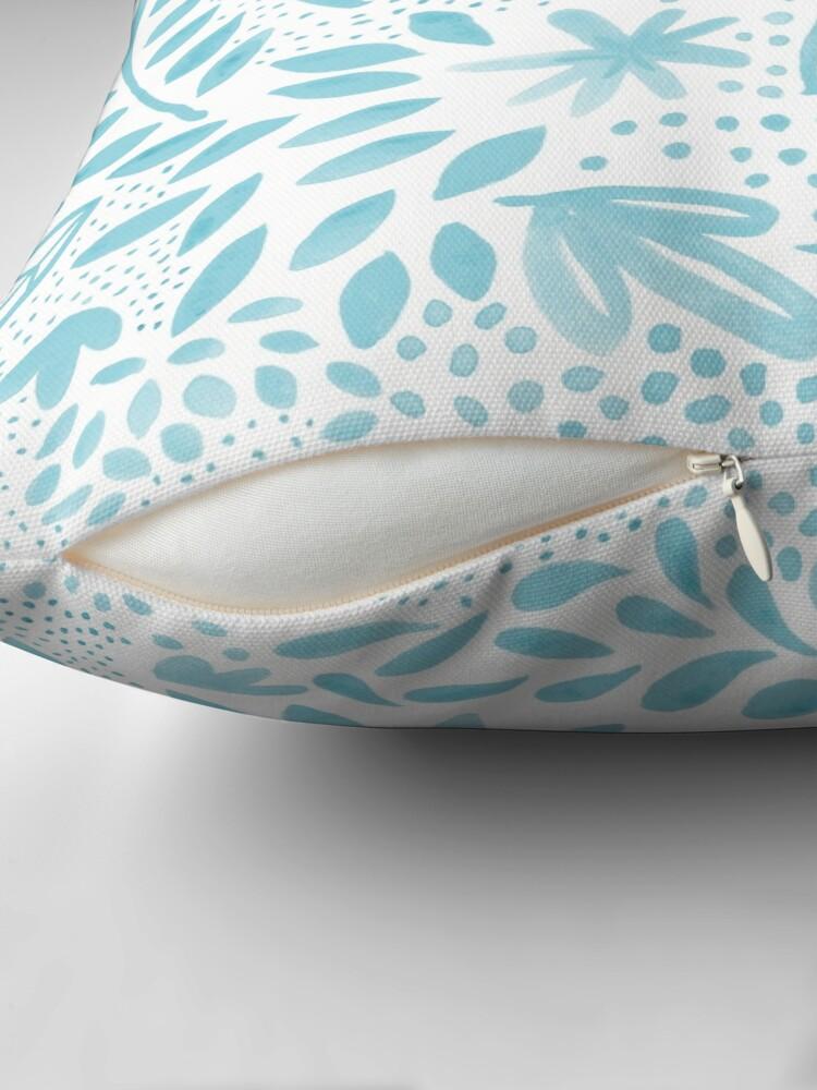 Vista alternativa de Cojín Pastel azul floral acuarela patrón de pintura