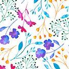 «Patrón de colores blanco de Flur floral de Fluro» de Dizzywonders