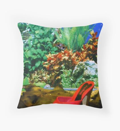 21st Century Cinderella- FishyShoe Throw Pillow