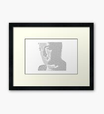 Mark Sheppard Text Potrait Framed Print