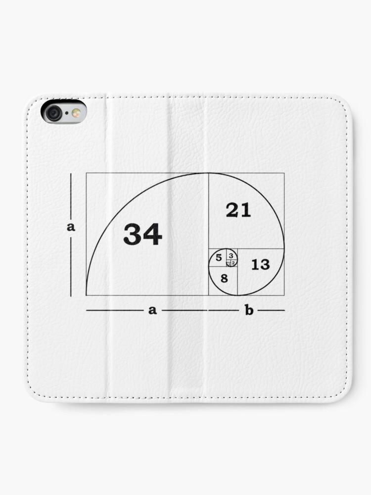 Alternate view of #Golden #Ratio #GoldenRatio #Design Ideas Fibonacci Spiral = 1.6180339887498948420 iPhone Wallet