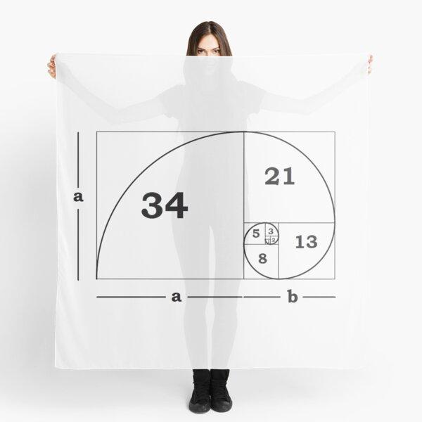 #Golden #Ratio #GoldenRatio #Design Ideas Fibonacci Spiral = 1.6180339887498948420 Scarf