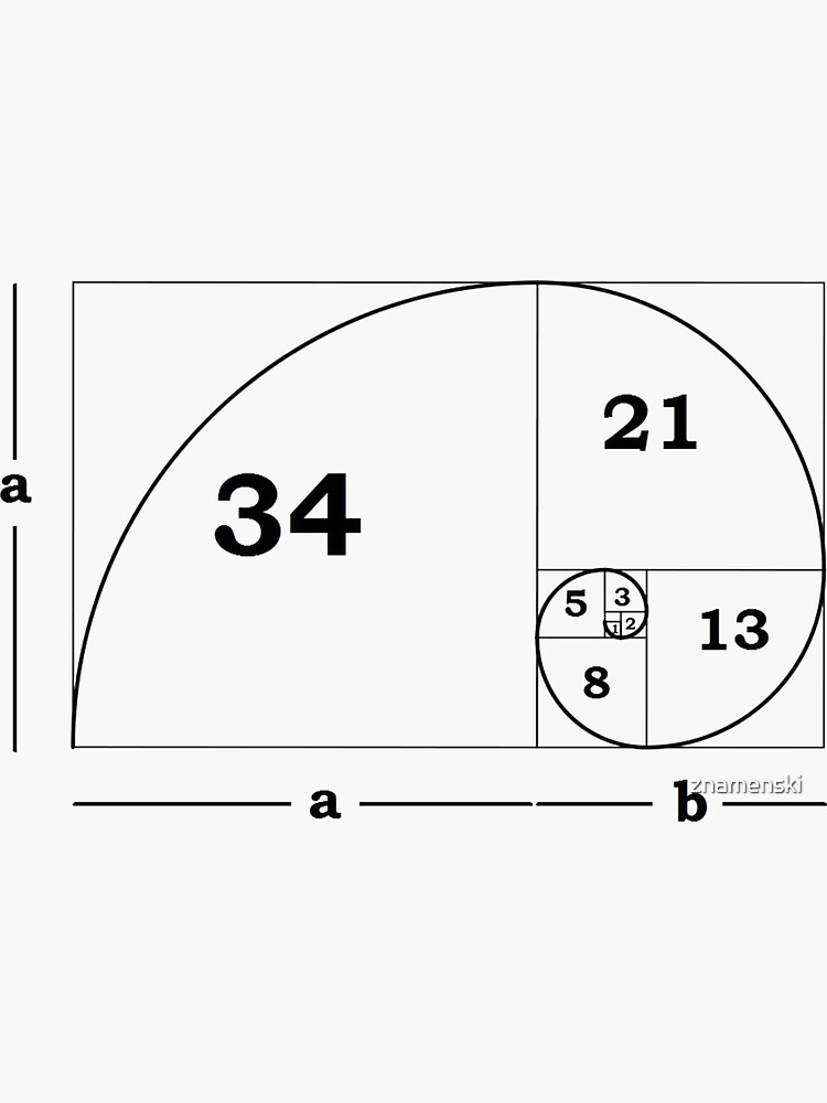 #Golden #Ratio #GoldenRatio #Design Ideas Fibonacci Spiral = 1.6180339887498948420 by znamenski