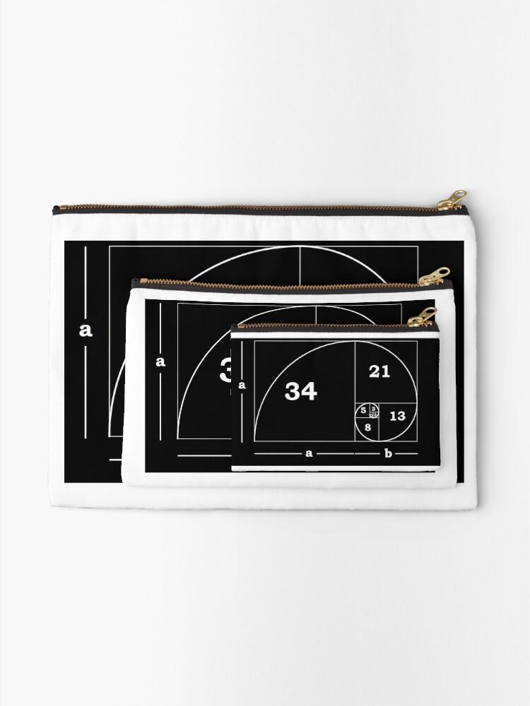 Alternate view of #Golden #Ratio #GoldenRatio #Design Ideas Fibonacci Spiral = 1.6180339887498948420 Zipper Pouch