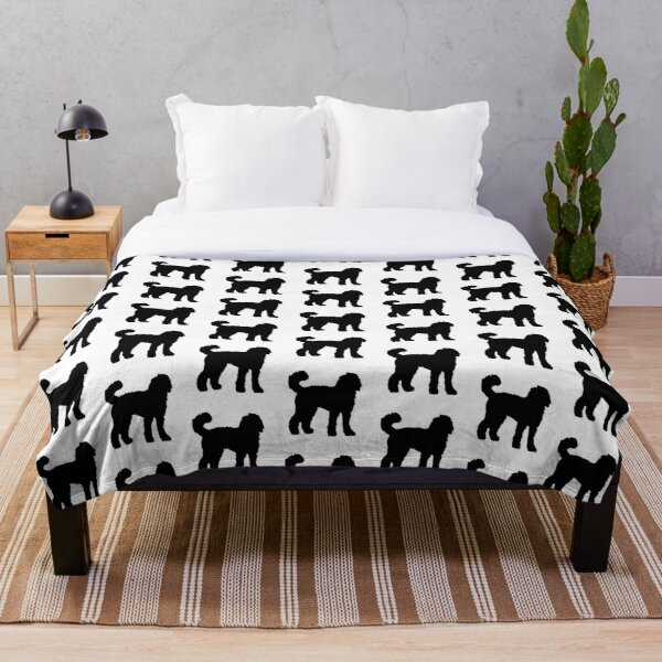 Black Goldendoodle Dog Throw Blanket