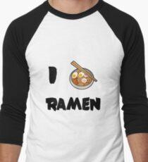 Camiseta ¾ estilo béisbol Yo amo ramen