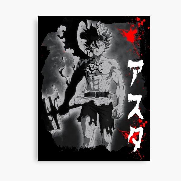 Asta - Black Bull Canvas Print