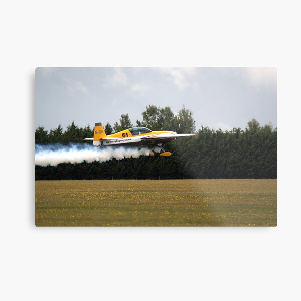Extra 300 aerobatic plane taking off Metal Print