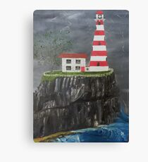 Welcome Sight on a Stormy Night Canvas Print