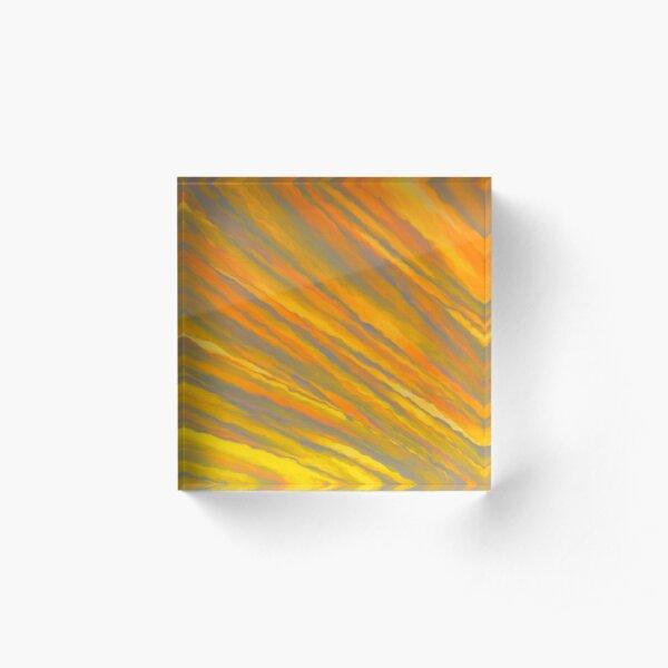 Canary Yellow Acrylic Block