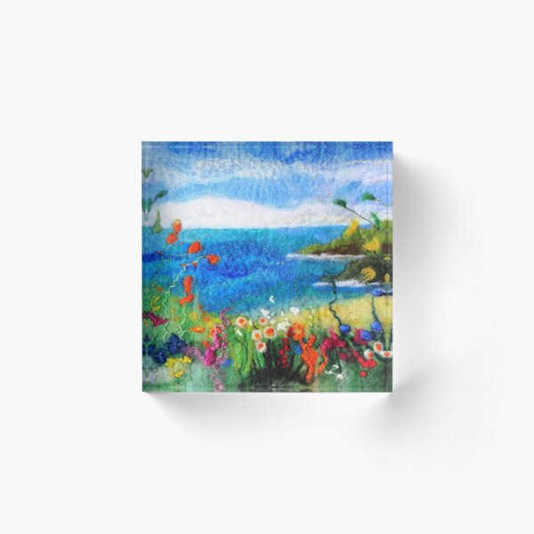 Seaside meadow Acrylic Block