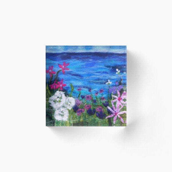 Clifftop Meadow Acrylic Block