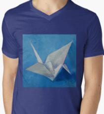 Origami Crane Men's V-Neck T-Shirt