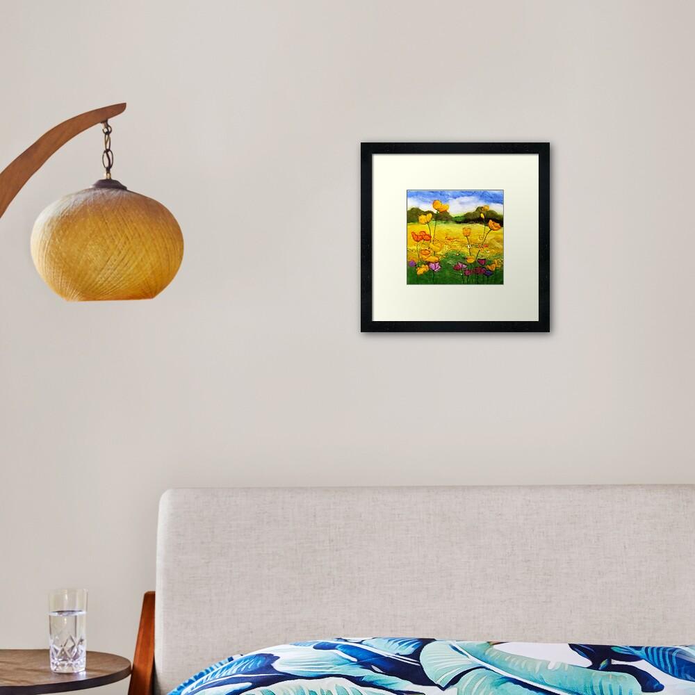 Buttercup Meadow Framed Art Print