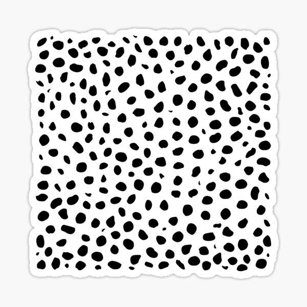 Black and White Seamless Cheetah Spots Sticker