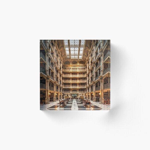 George Peabody Library  Acrylic Block