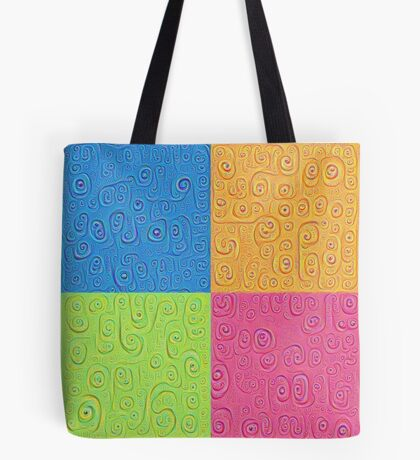 Deep Dreaming of a Color World 4K Saturation Tote Bag