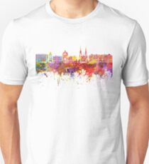Strasbourg skyline in watercolor background Unisex T-Shirt