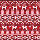 Alaskan Malamute christmas fair isle ugly sweater, alaskan malamute christmas decor, alaskan malamute christmas gift by PetFriendly