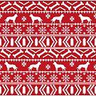 Australian  Kelpie christmas fair isle ugly sweater, kelpie christmas decor, kelpie christmas dog by PetFriendly