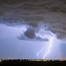 Rain Wall and Double Lightning Striking by Bo Insogna