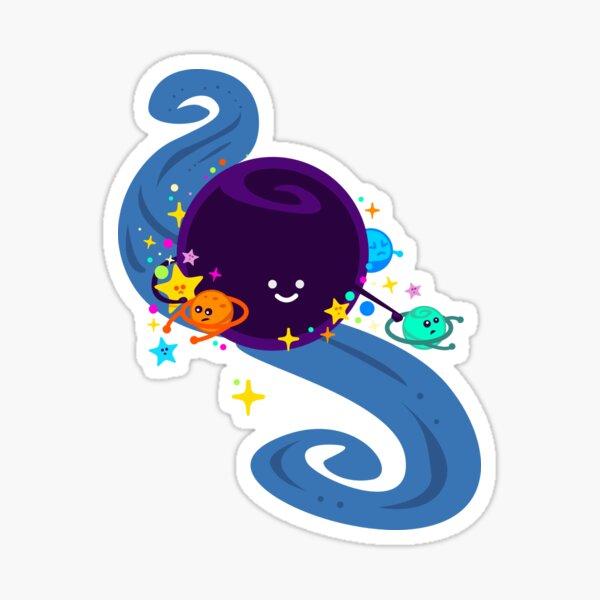 Black Hole - Cute Astrophysics design, Science Nerd, Event Horizon, Celestial Bodies Sticker