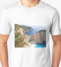 Shipwreck Zante Island Greece Unisex T-Shirt