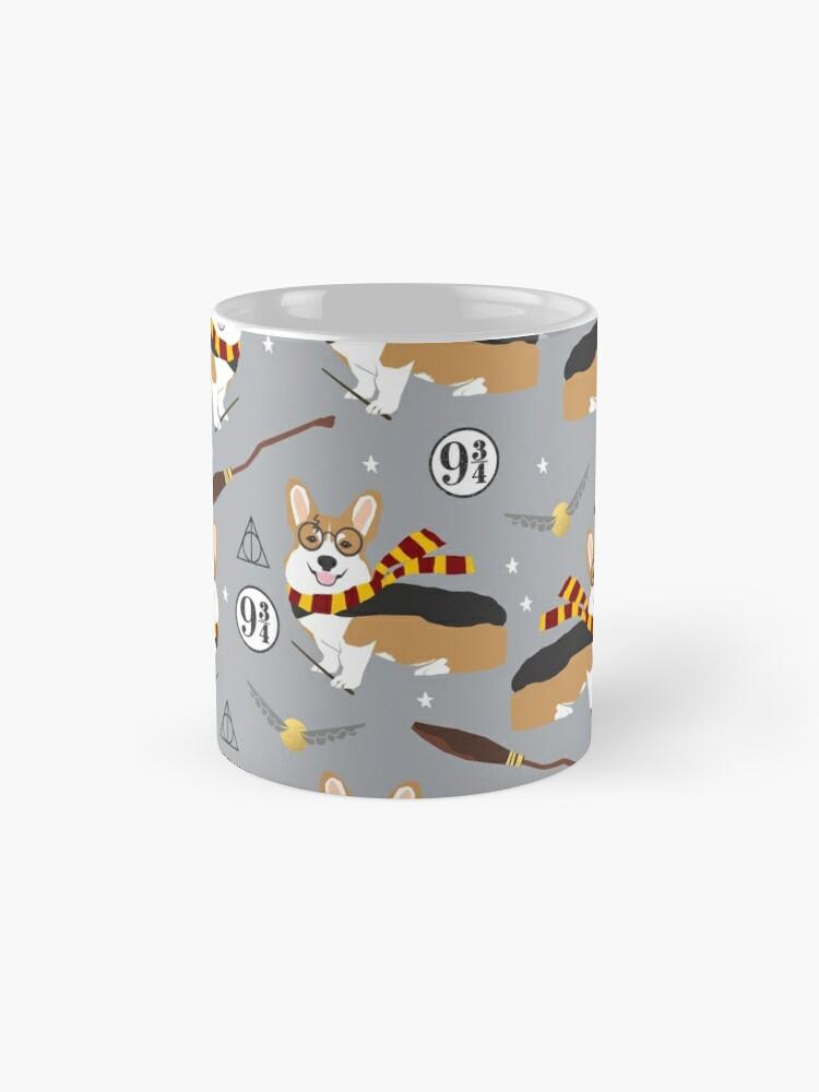 Alternate view of corgi potter wizarding world pattern Mugs