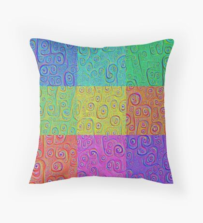 Deep Dreaming of a Color World 2K Throw Pillow