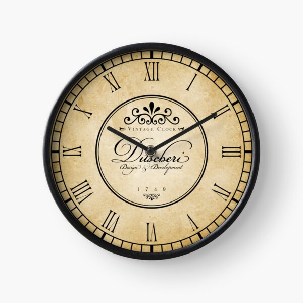 Vintage French Inspired Retro Clock with Roman Numerals Clock