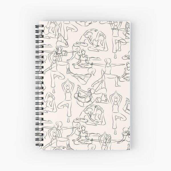 Yoga Manuscript Spiral Notebook
