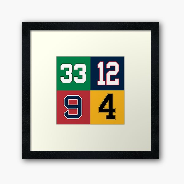 Boston Sports Legends Framed Art Print